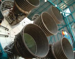 Apollo V Rocket Engines by Dracoart-Stock