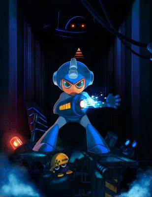 Mega man the Blue Avenger by iliasPatlis