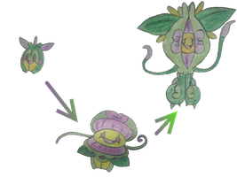 New Poison Trap Fakemon by Claudiamore