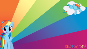 Rainbow Dash Wallpaper by BlueDragonHans
