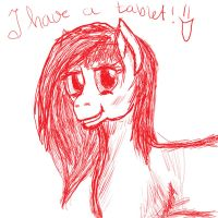 I have a tablet! by DarkMysteryCat