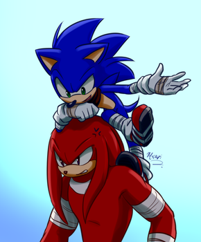 I love Knuckles by Myly14