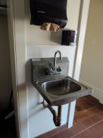A metal sink by frisbystock