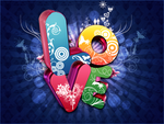 3D Love Text by Photosherox