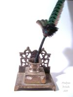 McGonagall's Quill and Stand by TheCopperDragon2004