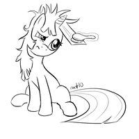Twilight brushes her hair by empty-10