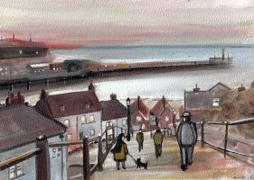 Whitby Harbour by JadeMoonRabbit