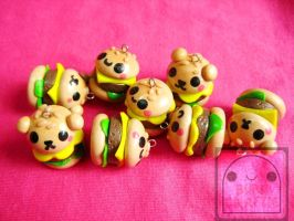 Cute Burger Charms by efeeha