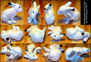Foray into Felting: Claire the Hare by swandog