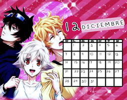 Calendario|Dic2014 by athenayabuki