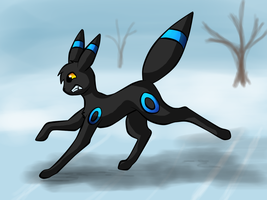 Umbreon doesn't like Ice by MysteryTale