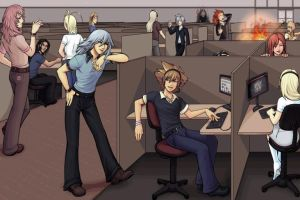 kingdom hearts at work by onyxray