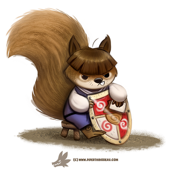 Daily Paint #1245. Squirre by Cryptid-Creations