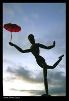 oNe Red Umbrella by Kemao