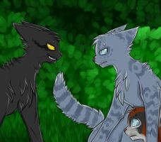 Breezepelt, Jayfeather and Poppyfrost by Do-omed-Moon