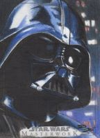 SW Masterwork - Darth Vader Artist Return Card by DenaeFrazierStudios