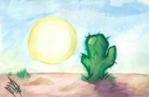 The Desert Cactus by DarkDorArt