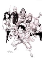 Manga - One Piece crew by marvelmania