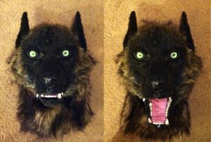 Werewolf mask front view by SabrePanther