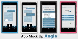 App Mock Up Angie by jango07