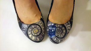 Doctor Who Steampunk Tardis shoes by arteclair