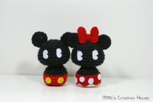 Mickey and Minnie Chibis by milliemouse579