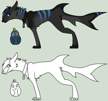 Emo Shark Wolf Contest by RukaSwift