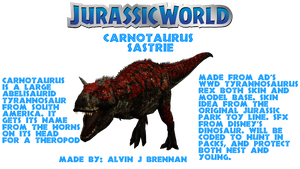 Jurassic World Carnotaurus Remake by GorgonGorgosaurus