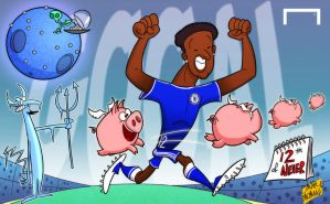Mikel scores for Chelsea by OmarMomani