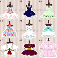 [OPEN] Fashion Adopts #2: Set Price Dresses (5/9) by OginZ