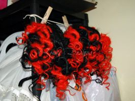 Stars Red and Black Dreads2 by bad-ass