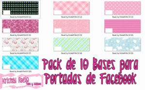 Pack de 10 Bases-Portadas para Facebook by RoohEditions