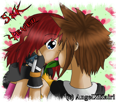 Sora and Kairi - V-Day 2009 by AngelShizuka