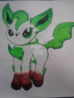 Leafeon by FireFoxh