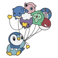 Piplup's balloons by Elenwae