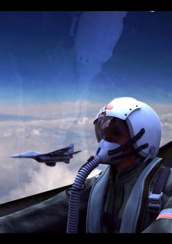 Fighter pilot view by cocoonH