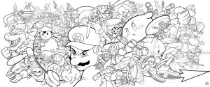 Super Smash Bros. by Zombie-Graves