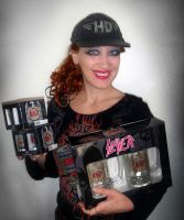 Sofia Metal Queen loves Slayer merch collectables by SOFIAMETALQUEEN