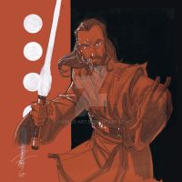 12x12 Qui-Gon Jinn SLC by Hodges-Art