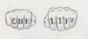One Life Finger Tattoo Design by BringTheKaos