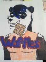 Waffles Badge by kingking321