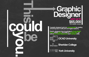 Toronto Graphic Designer Promotional Poster by Luminosis