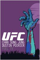 UFC on Fuel TV: Korean Zombie vs. Poirier Poster by weoweoweo