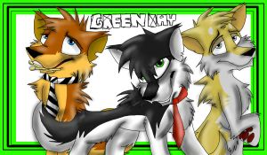 Green Day Wolves by Flame-Expression