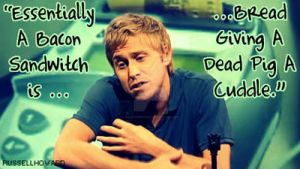 Russell Howard Bacon Sandwitch by mockthedeviant