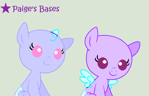 2 Foals Base by Paige-the-unicorn