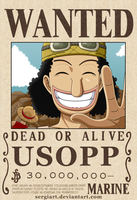 One Piece - Usopp wanted poster? by SergiART
