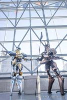 Anubis and Jehuty NYCC 2015 by ProVoltageCosplay