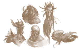 Demon Sketches by Erebus88
