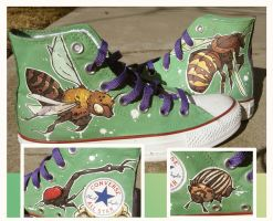 Bees and Beetles Converse Shoes by treesforall